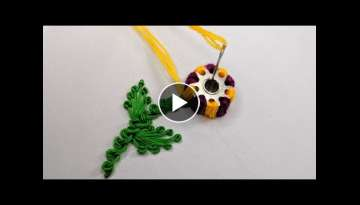 Amazing Hand Embroidery flower design trick | Very Easy & Super Hand Embroidery flower design ide...