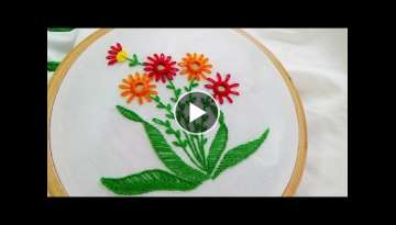 Hand Embroidery: Mirror work variation