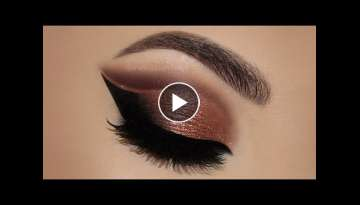 Copper Cut Crease Glitter MakeUp Tutorial | Melissa Samways