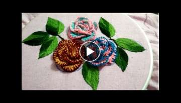 I made these flowers with thick cotton thread and then thin thread for blanket stitch it is very ...