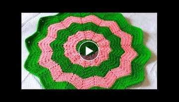 Star Blanket Part 1 of 2 -Baby Blanket-Classic Round Ripple Crochet Baby Blanket