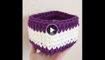 A square basket - The pattern of