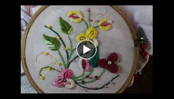Hand Embroidery Designs | Caston stitch | Stitch and Flower-90