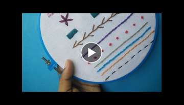 Hand Embroidery for Beginners - Part 2 | 10 Basic Stitches | HandiWorks #52