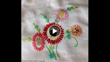 Hand Embroidery Double Zig Zag new designs stitch by HUMARIA ARTS