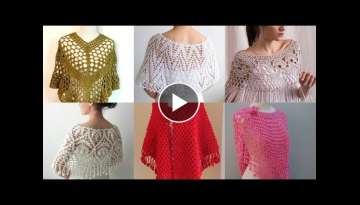 Latest stylish designers trendy bridal hand knitting caplet crochet shawl,caplet shawl designs