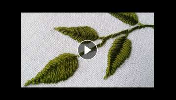 Hand Embroidery Design | Fish Bone Stitch Tutorials | HandiWorks #24