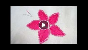 Hand Embroidery Flower Stitching