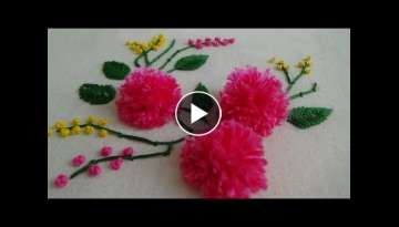 Hand Embroidery: Pom Pom Flowers