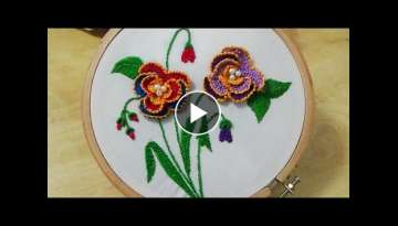 Hand Embroidery: 3-D Detached buttonhole stitch