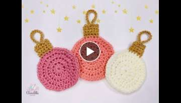 CROCHET easy CHRISTMAS BAUBLES / COASTERS / DECORATION