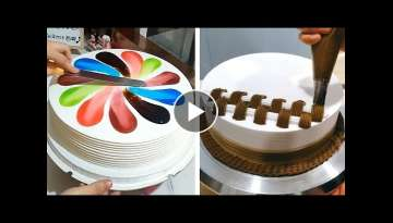Most Satisfying Chocolate Cake Decorating