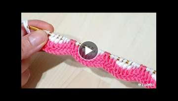 You will love this two-color Tunisian model, both very easy and very beautiful knitting crochet
