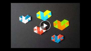 How To Make Heart Straw | Heart Paper - Origami Tutorial