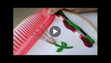 Amazing Hand Embroidery flower design trick | Very Easy Hand Embroidery flower idea:Kurti/Suit/dr...