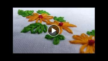 Easy Hand Embroidery Works | Lazy Daisy | HandiWorks Tutorials #11