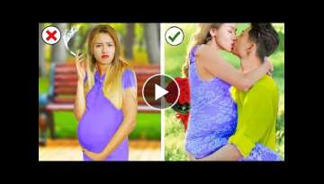 Oh Baby hyperactive! Pregnancy Hacks Nbreaking all complex situations! More Life Hacks & DIY Idea...