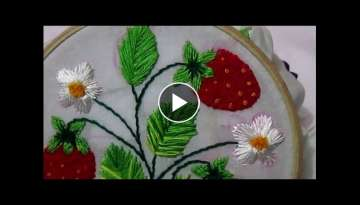 Strawberry stitch | Embroidery design