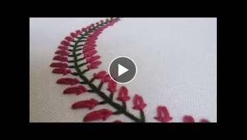 Beautiful Embroidery Pattern for Collars, Baby pillow cases etc... | HandiWorks #35