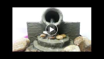 Awesome Make a Water Fountain Cement Life Hacks