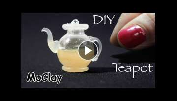 Diy miniature Glass Teapot - Dollhouse miniatures