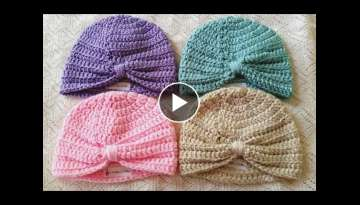 Baby Turban Crochet Tutorial