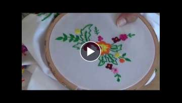 Hand Embroidery: Long and short Satin stitch