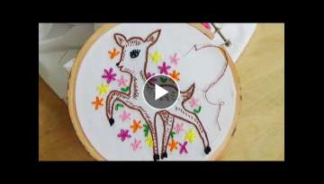Hand Embroidery: Deer embroidery