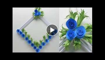 Diy paper flower wall hanging | Wall Decoration ideas | How To Make Easy paper flower wall hangin...