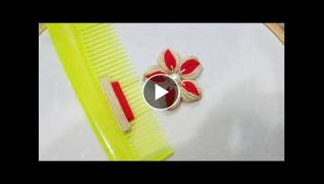 Hand Embroidery: Sewing Hacks Amazing Simple Trick For Making Flower With Hair Comb