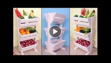 DIY Kitchen Organizer !! Fruit and Vegetable Storage Idea