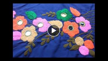 Flower design for beautiful dresses | Hand embroidery designs