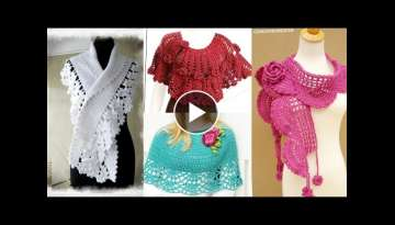 Stunning And Classy Crochet Cap Shawl Designs //Stylish Crochet Caplet Poncho Collection