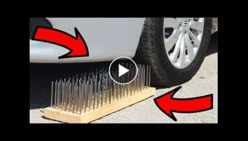 EXPERIMENT: CAR VS 200 NAILS