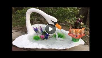 Creative Ideas with Cement For Garden | Making Small Fish Tank and Flower Pots | Beautiful and ea...