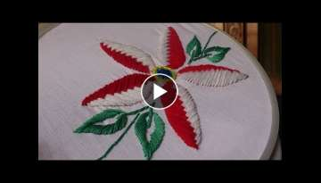 Hand embroidery designs - Beautiful flower stitch