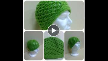 Granny Square Hat Crochet Tutorial
