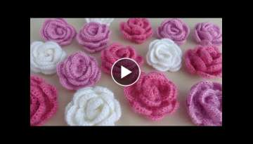 How to knit a rosette Crochet knitting - Knitting pattern for beginners