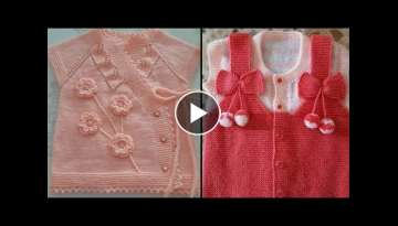 HAND KNITTED VEST FOR KIDS-Baby Girl Vests