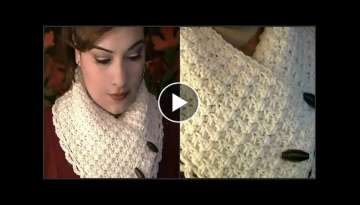 How To Crochet A Collar Scarf - Tutorial