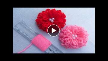 Hand Embroidery Amazing Trick - Easy Flower Embroidery Trick with Scale