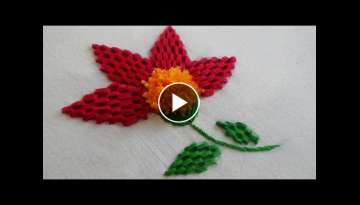 Hand Embroidery: Fantasy Flower Stitch