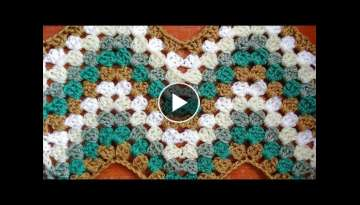 Granny Ripple Crochet Stitch - Right Handed Crochet Tutorial
