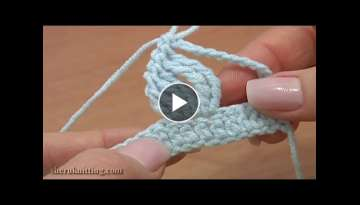 Crochet Complex Stitch Made Of Tall Stitches Tutorial 19