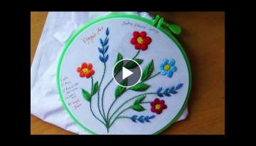 Hand Embroidery Designs # 107 - Satin stitch Design