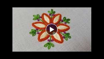unique flower stitch | satin stitch hand embroidery