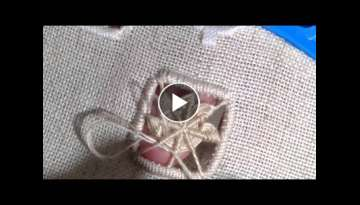 How I make edelweiss stitch,hardanger embroidery.
