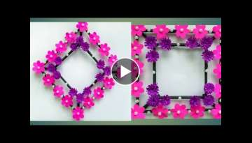Diy paper flower wall hanging /Simple and beautiful wall hanging/Wall decoration