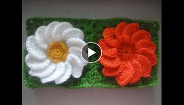 Flower in a square Crochet
