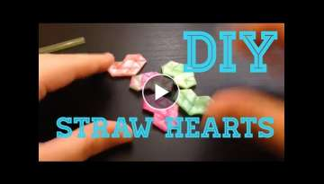 DIY straw heart